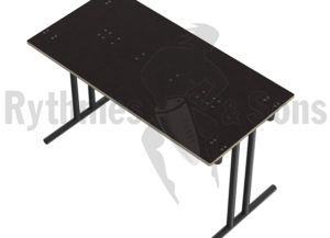 Table pliante noir Rythmes & Sons