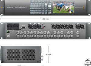 ATEM 4M/E Broadcast studio 4K Melangeur video BLACKMAGIC