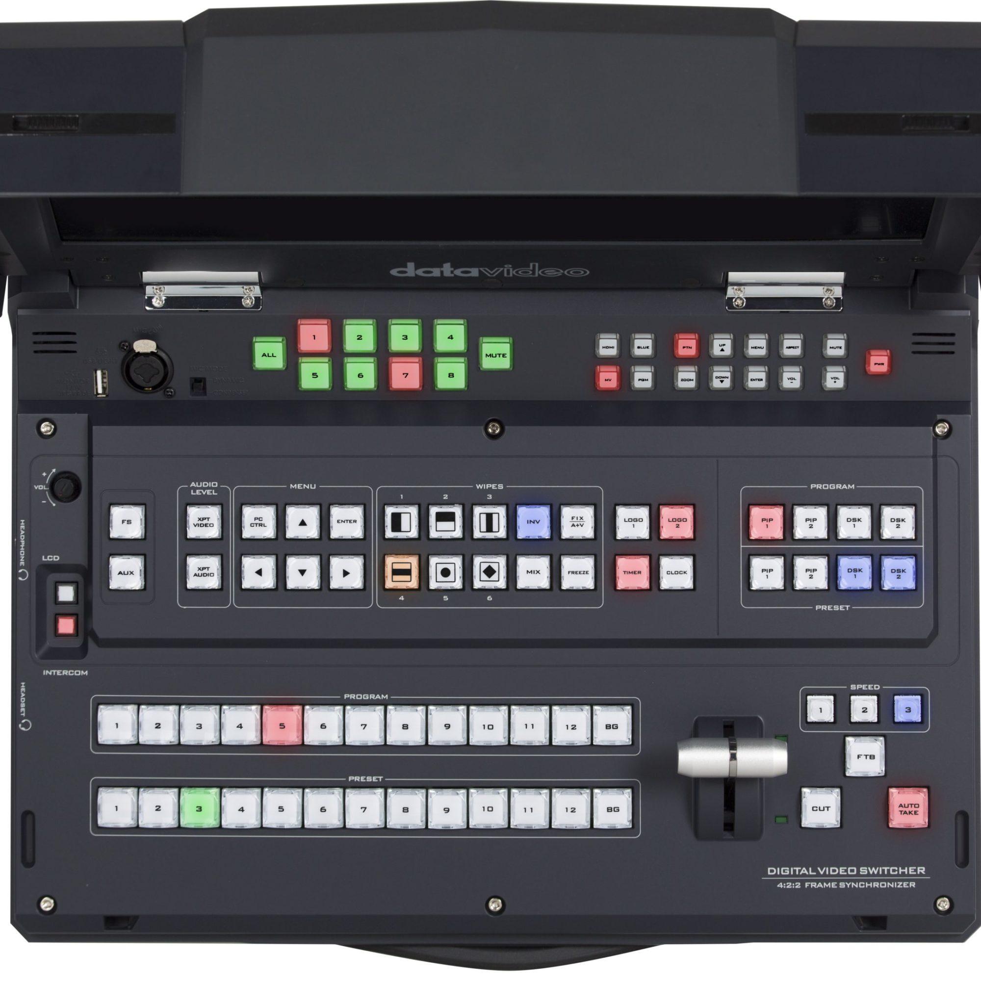 HS-2850-12 Datavideo Studio vidéo portable HD / SD 12 canaux