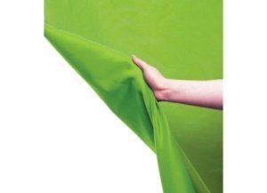 Fond vert en tissu pour Chroma Key. Taille 3 x 6 mètres. Lavable