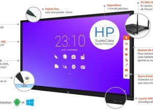 SuperGlass Android SpeechiTouch UHD Ecran interactif tactile 86″ Haute Précision