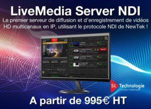 Live Media Serveur NDI NewTek