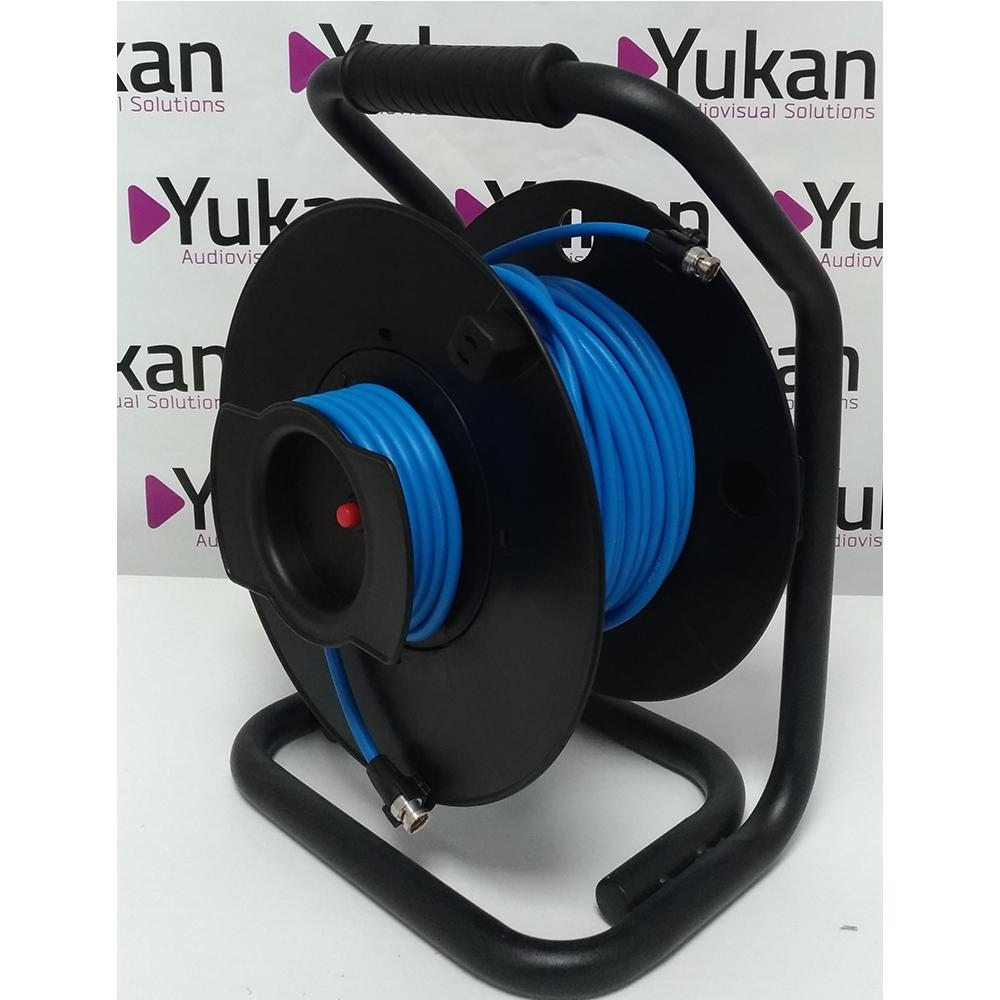 Câble 30 mètres LTX100 Pro SDI/SDI sur enrouleur avec connectique Neutrik