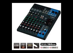 Console de mixage 10 canaux – 4 entrées micro, 10 entrées ligne (4 mono + 3 stéréo) USB