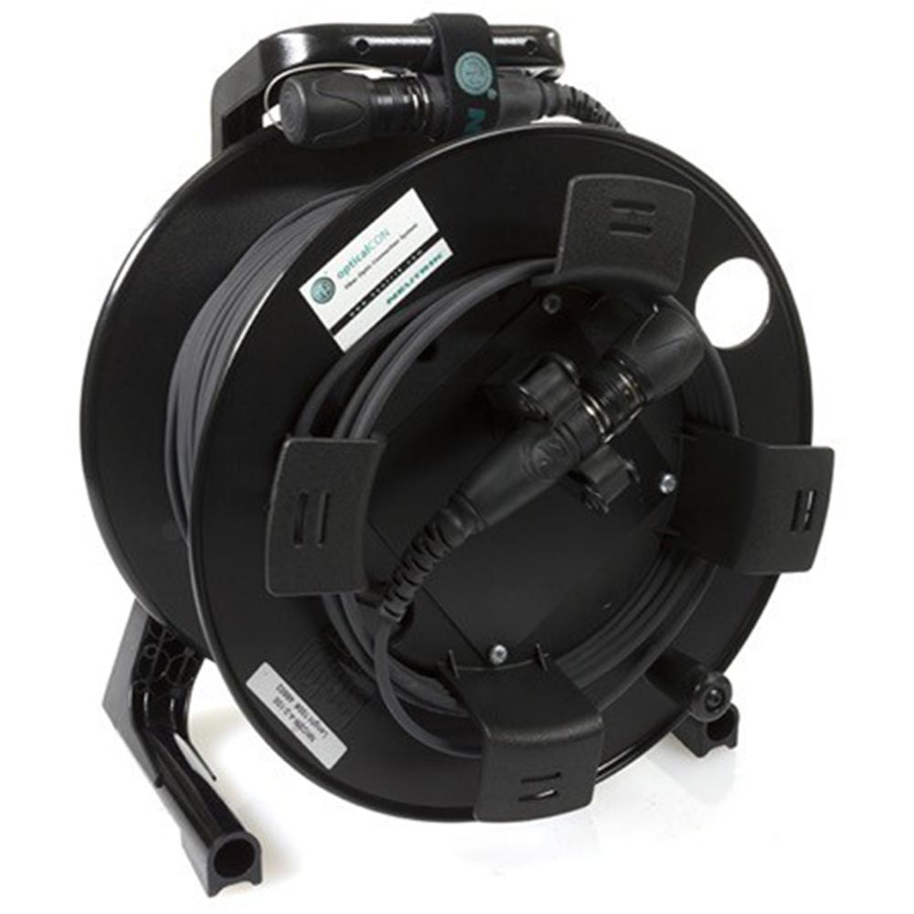 Fibre Optique Connectique Neutrik sur Enrouleur