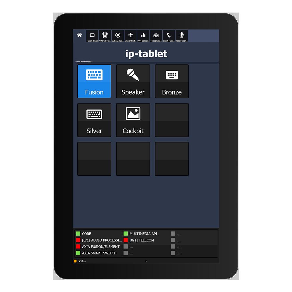 IP Tablet Core Application de mixage virtuel Axia