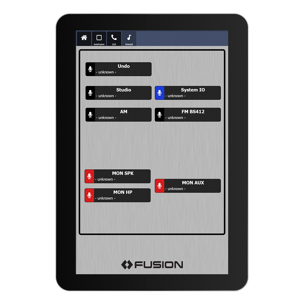 IP Tablet Omnia 9 Application de radio virtuelle Axia