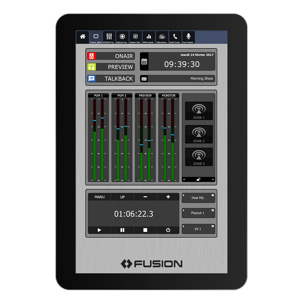 IP Tablet Power Station Application de radio virtuelle Axia