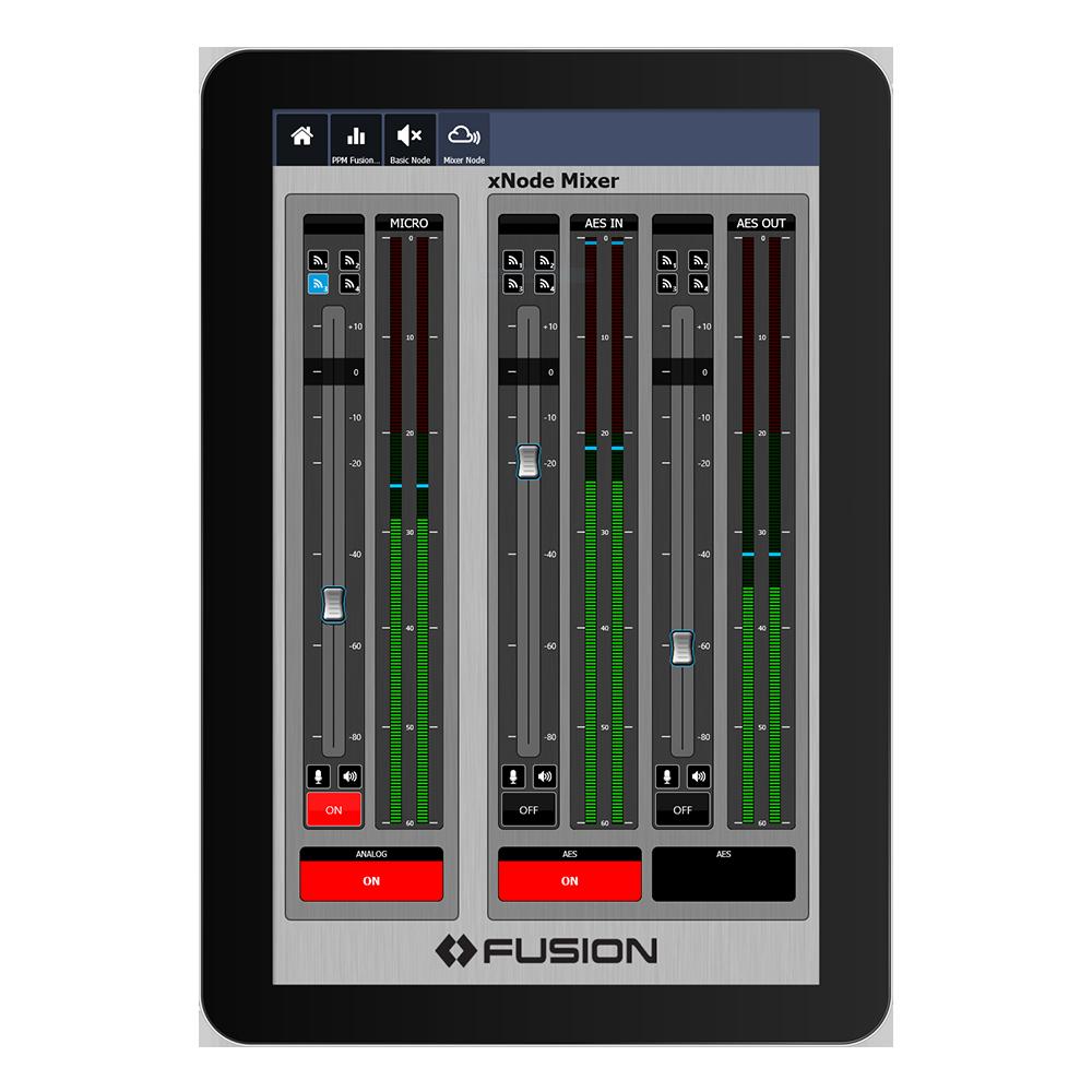 IP Tablet QR32 & QR16 Application de mixage virtuel Axia