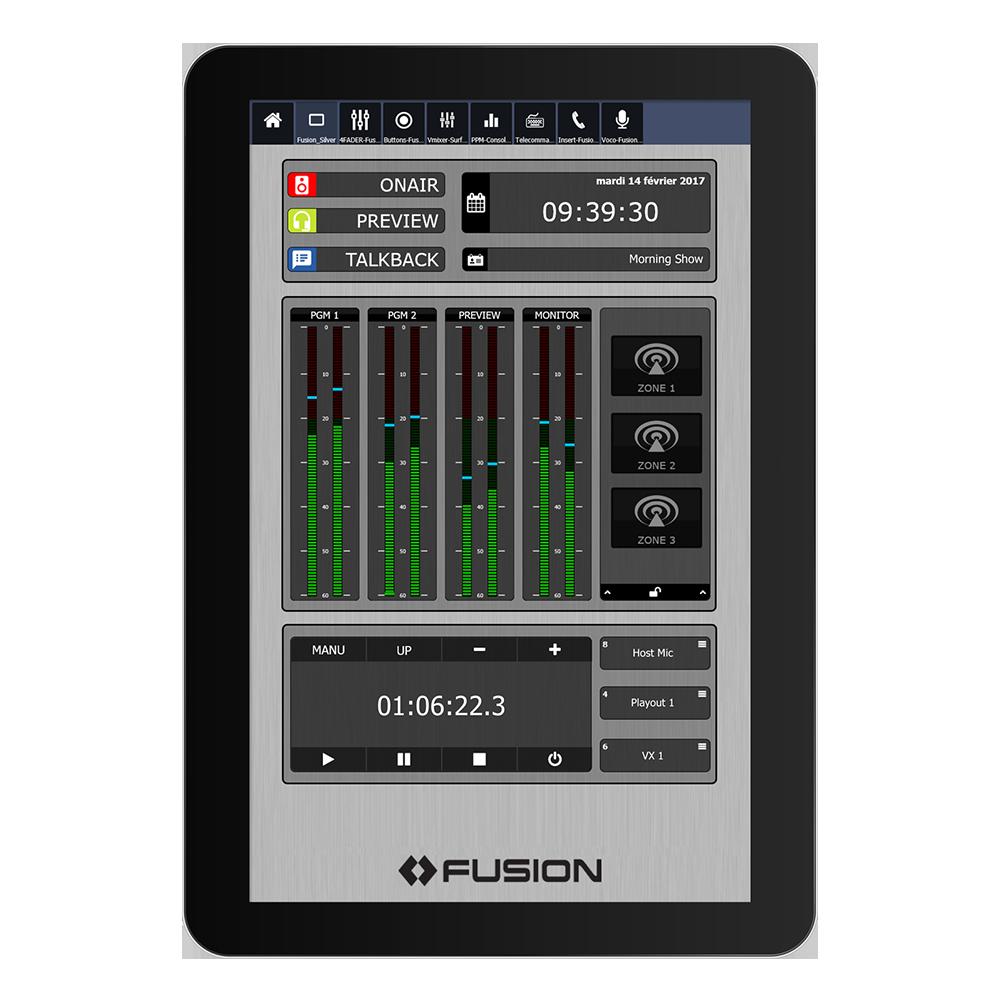 IP Tablet Studio Engine Application de radio virtuelle Axia