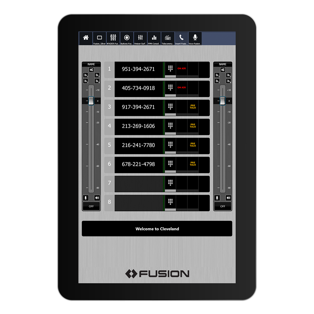 IP Tablet VX Application de radio virtuelle Axia