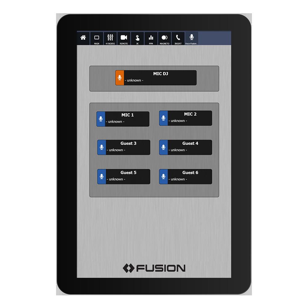 IP Tablet Voco8 Application de radio virtuelle Axia