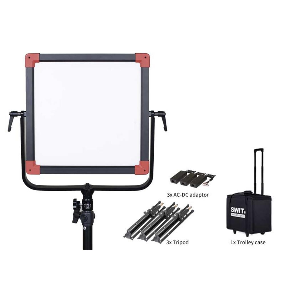 Kit d'éclairage à led 3 projecteurs PLE60 Swit – 2700 à 6500K