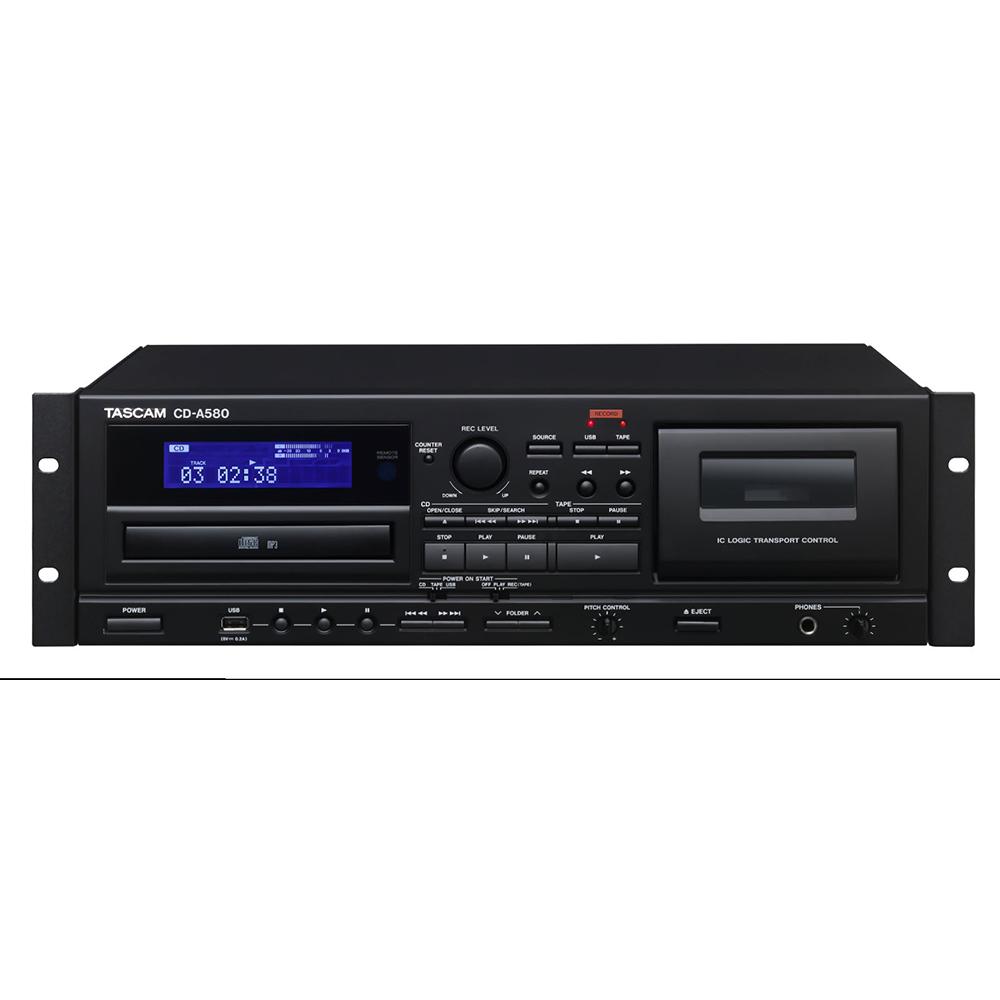 Lecteur Enregistreur CD/Cassette/USB Tascam CD-A580
