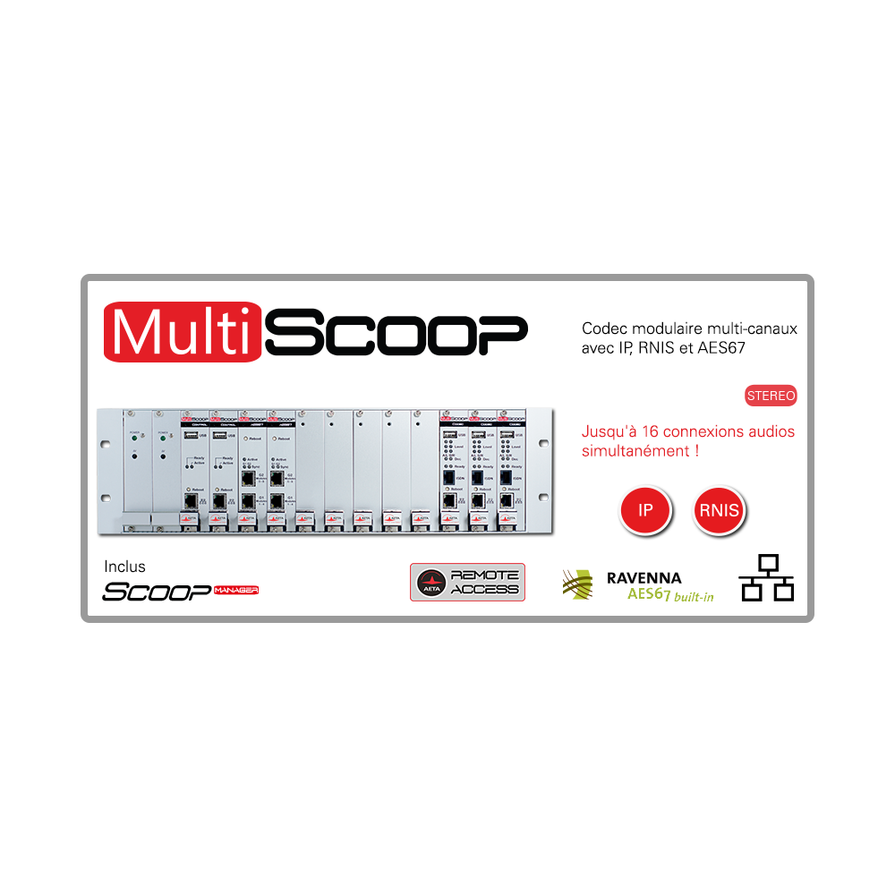 Multi Scoop AETA Codec Multi canaux