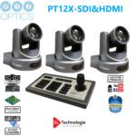 Pack caméras Tourelle PT12X SDI & HDMI PTZoptics + Contrôleur IP