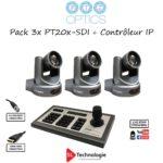 Pack 3x PT20X-SDI + Controleur IP – PTZOPTICS