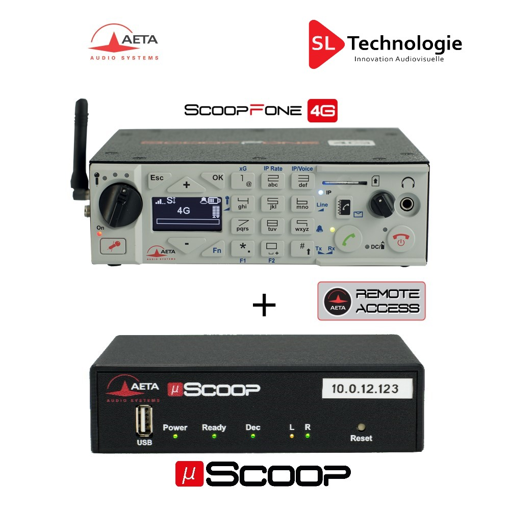 Pack Codec IP SCOOPFONE 4G + µScoop AETA