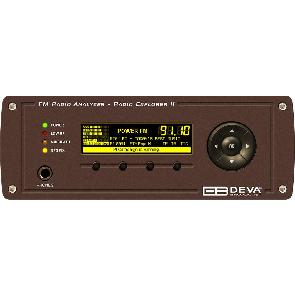 Radio Explorer 2 DEVAAnalyseur et monitoring FM Mobile