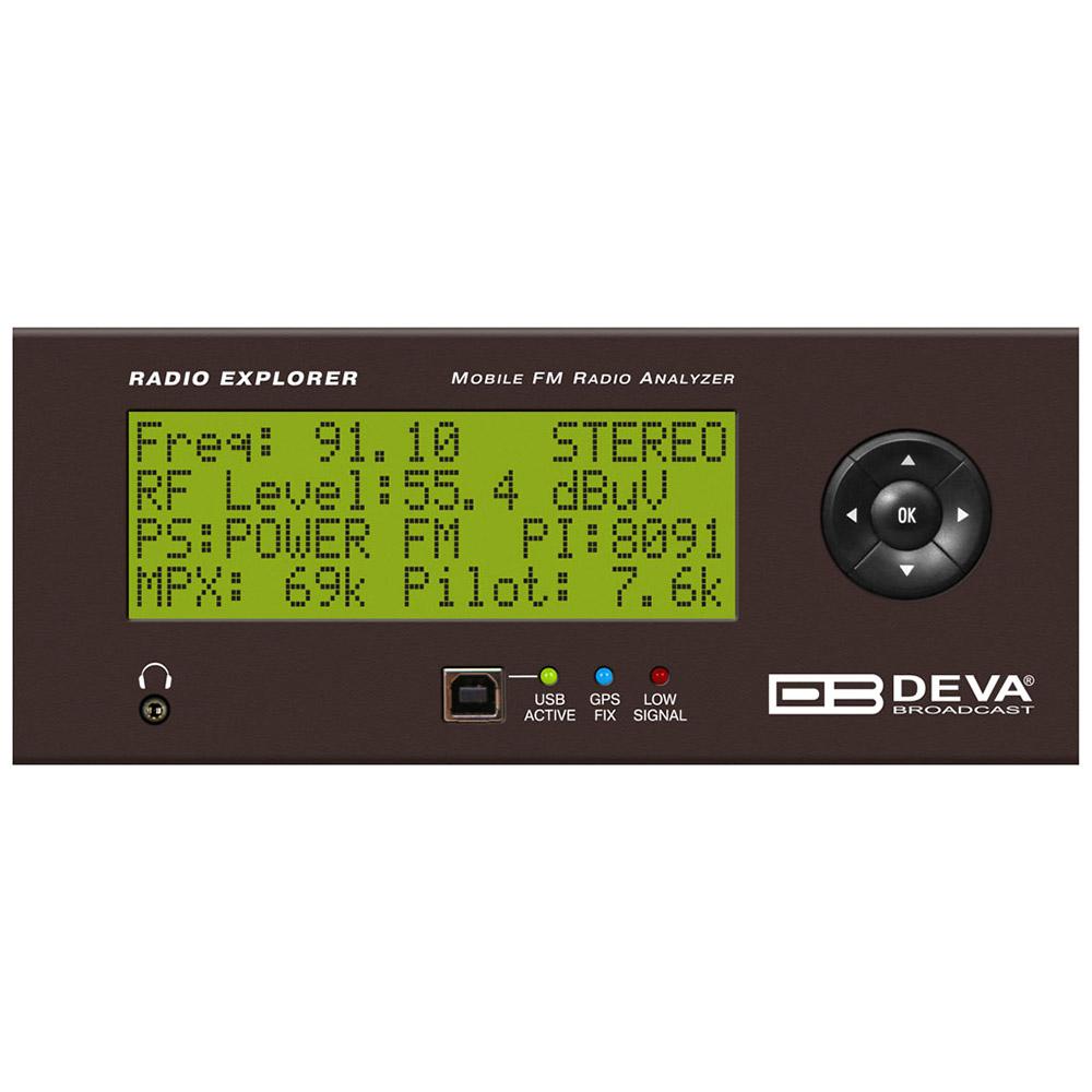 Radio explorer DEVA Analyseur et monitoring FM Mobile