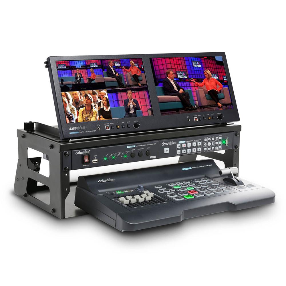 Studio de production vidéo portable 4 canaux HD / SD