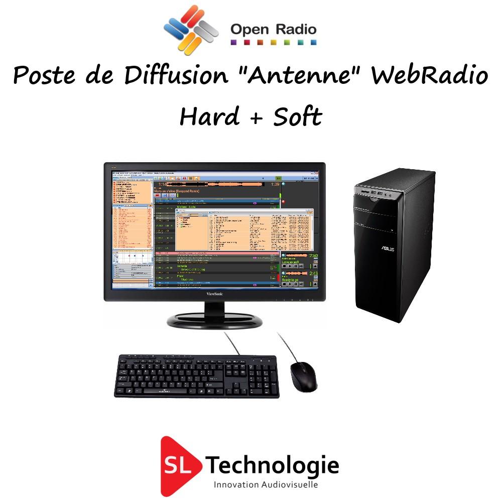 Poste de Diffusion + Licence Logicielle Pro Open Radio Station de Radio Web Radio