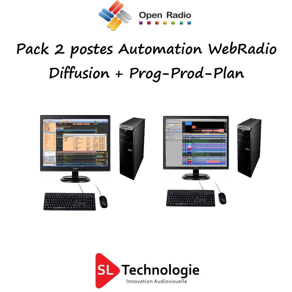 Pack Automation De Diffusion Open Radio 2 Postes Web Radio