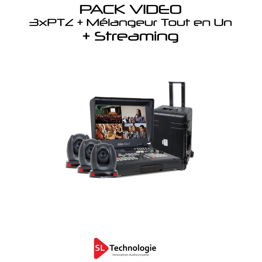 Pack Mélangeur Tout en Un + Streaming + 3 Caméras PTZ