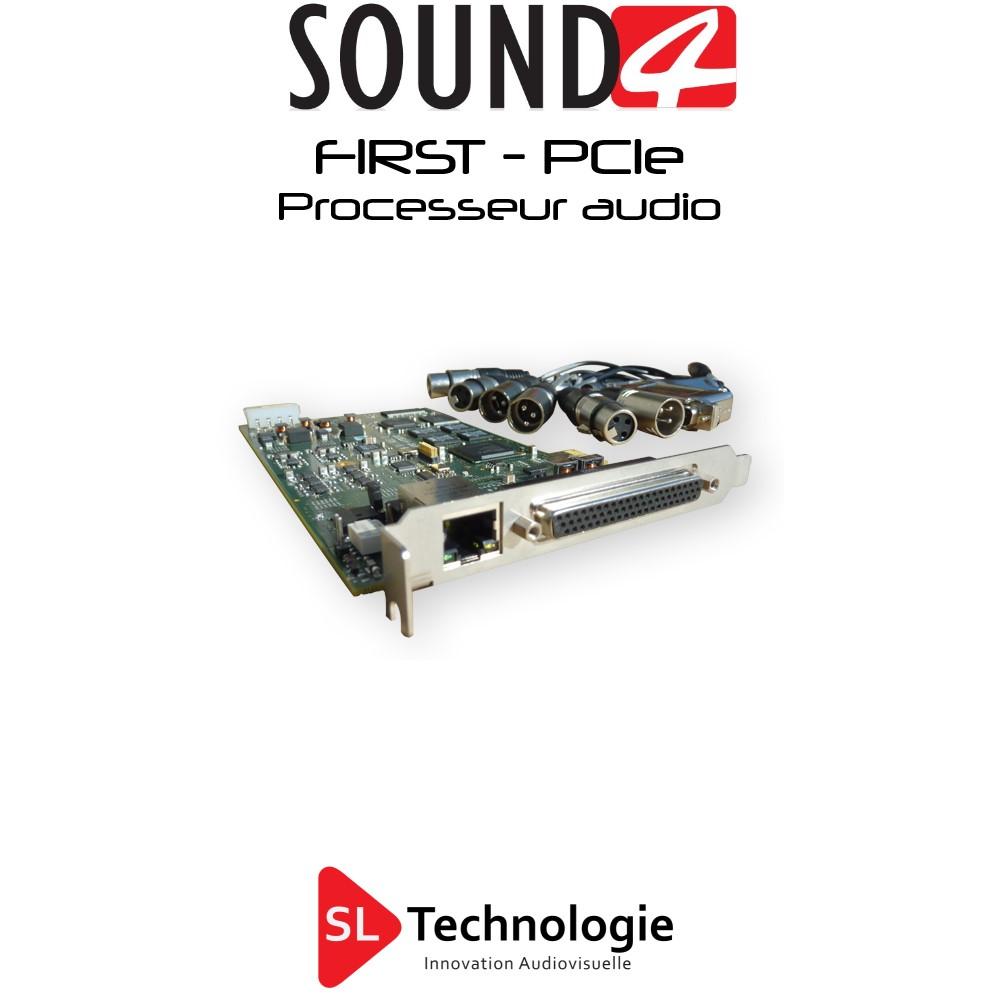 FIRST – Carte PCIe – SOUND4