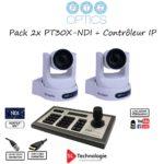 Pack 2x PT30X NDI PTZOptics + PTJOYG3