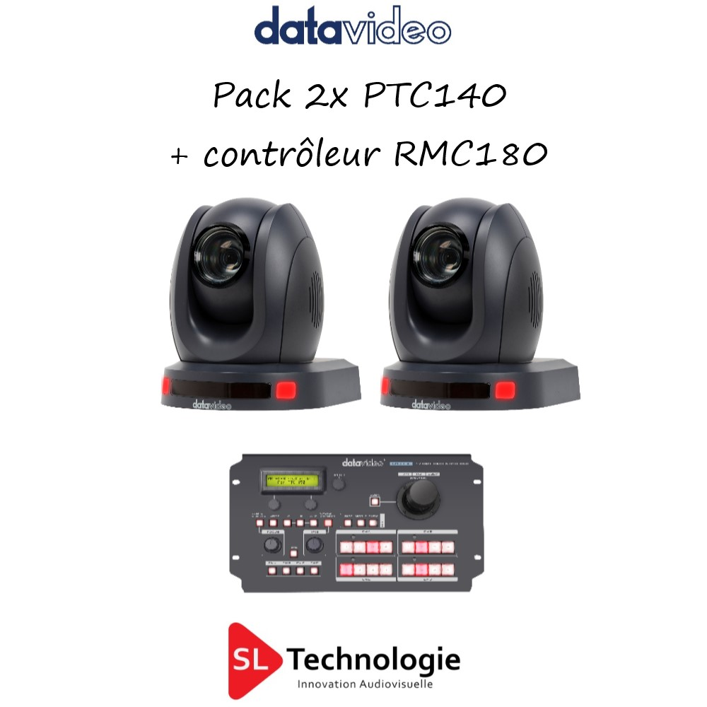 Pack 2xPTC140 + RMC180 datavideo