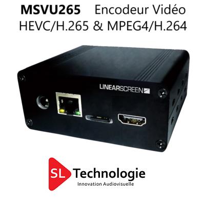 MSVU265 SDI Encodeur Vidéo HEVC/H.265 & MPEG4/H.264 – Monoflux