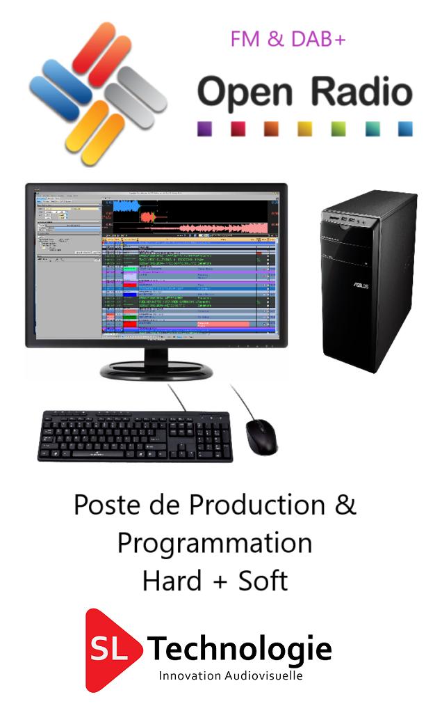 Poste de Production/Planification & Production Open Radio Hard + licence Logicielle Version FM & DAB+