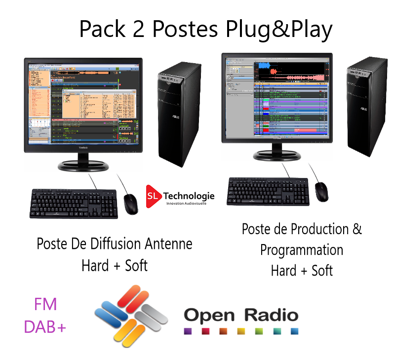 Pack Automation De Diffusion Open Radio 2 Postes Version Pro FM