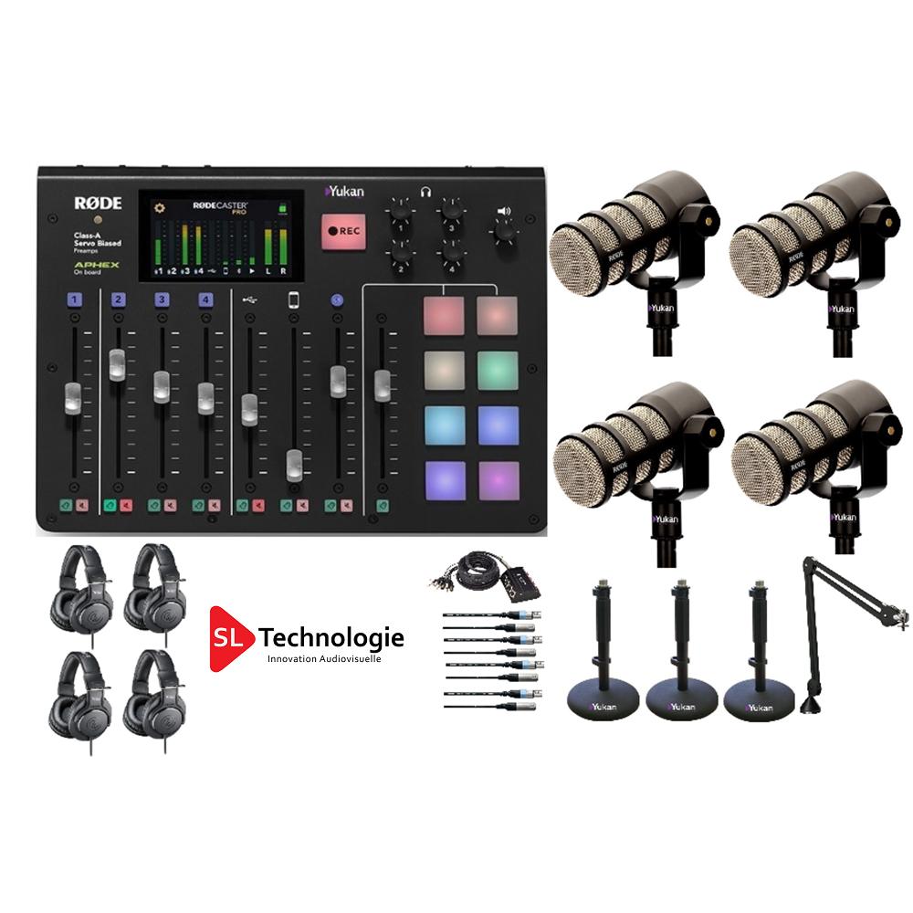 Pack Equipement Audio Studio pour Web Radio