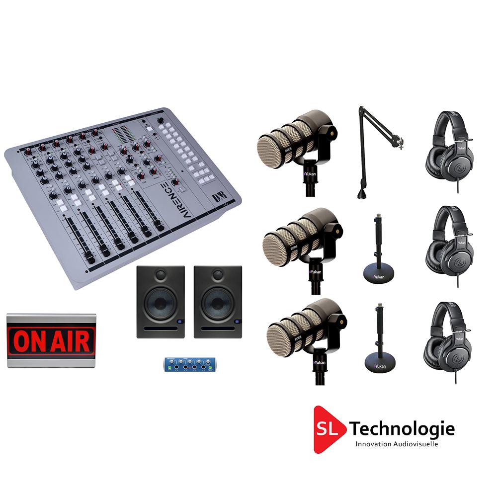 Pack Equipement Studio Webradio Prod + 3 micros