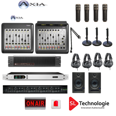 Pack Pro Console Numérique IP 16 Faders Axia