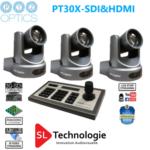 Pack caméras Tourelle PT30X SDI PTZoptics Avec contrôleur IP
