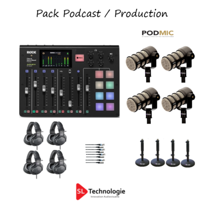 Pack Studio Extérieur, Podcast, Production – RodeCaster Pro