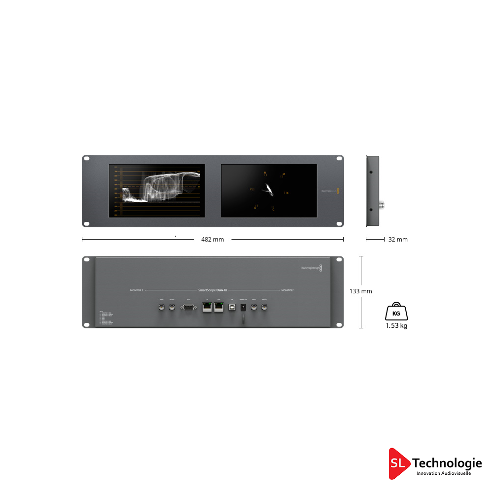 SmartScope Duo 4K BlackMagic Design Monitoring vidéo