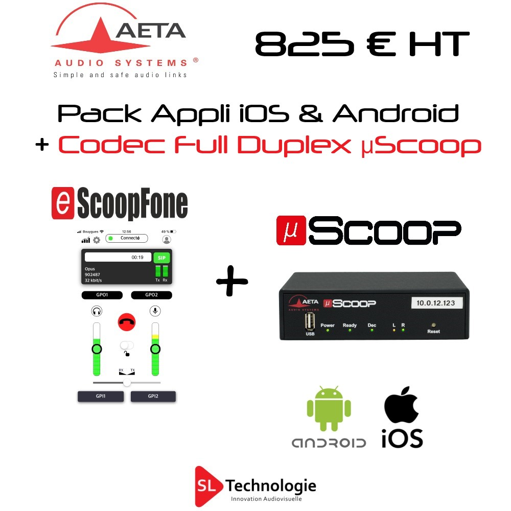 Pack eScoopFone + µScoop AETA