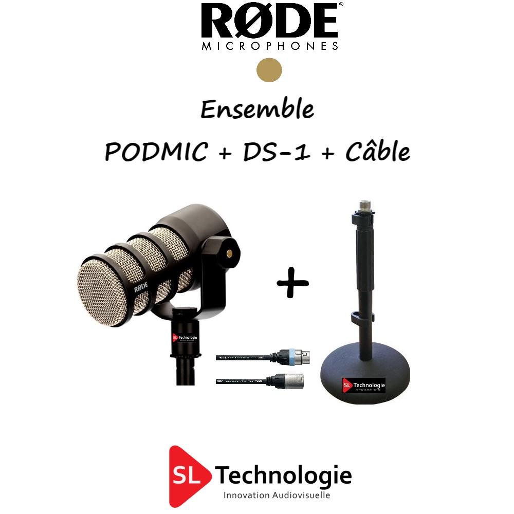 PODMIC RODE + DS-1 + Câble