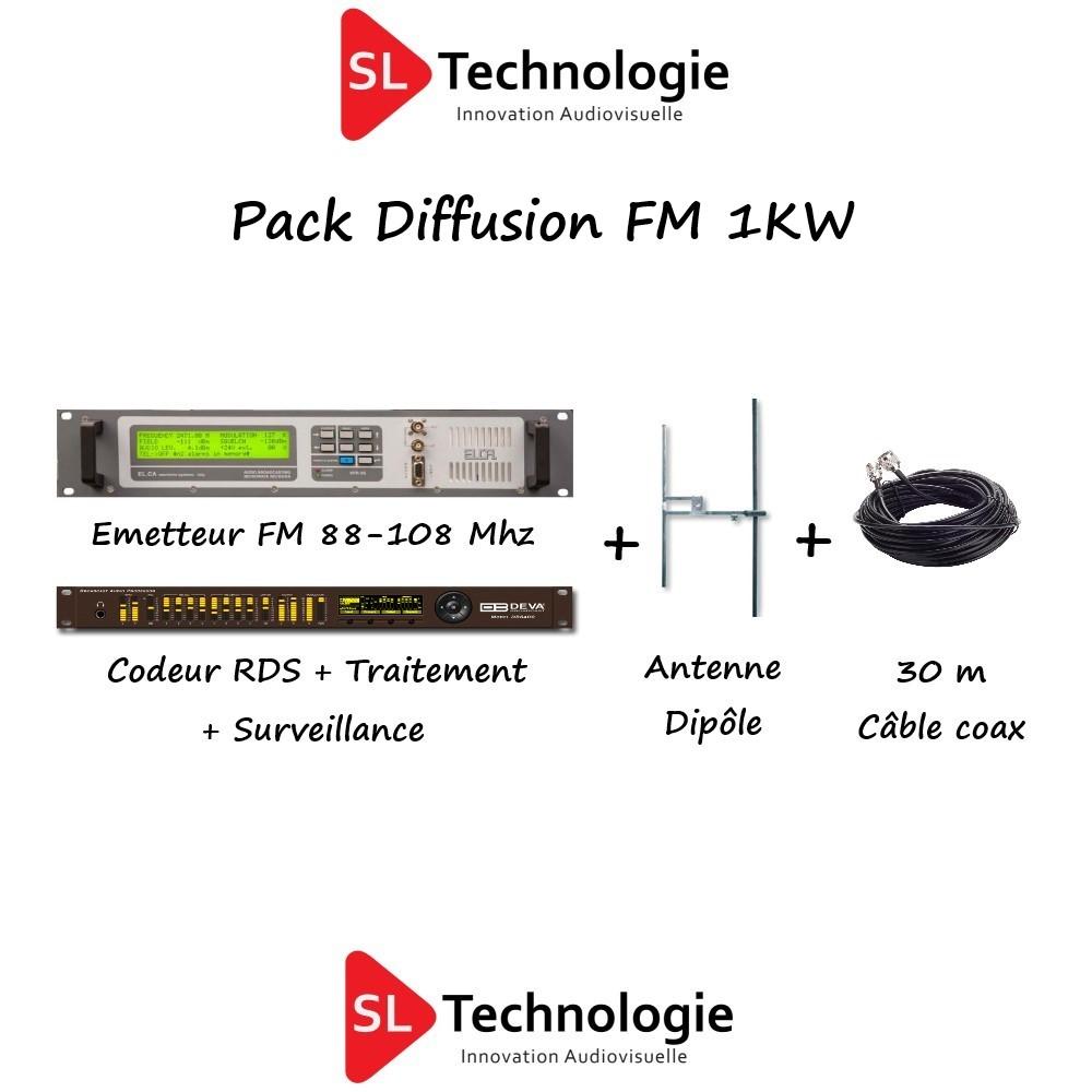 Pack Diffusion FM Émetteur 1KW
