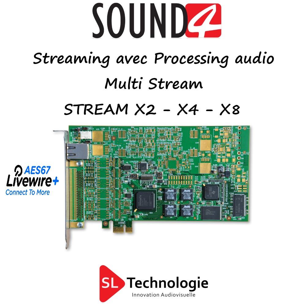 Streaming Web Audio STREAM X2 – X4 – X8 – SOUND4