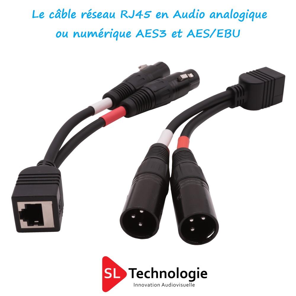 Utilisation du câble réseau pour l'audio analogique et AES