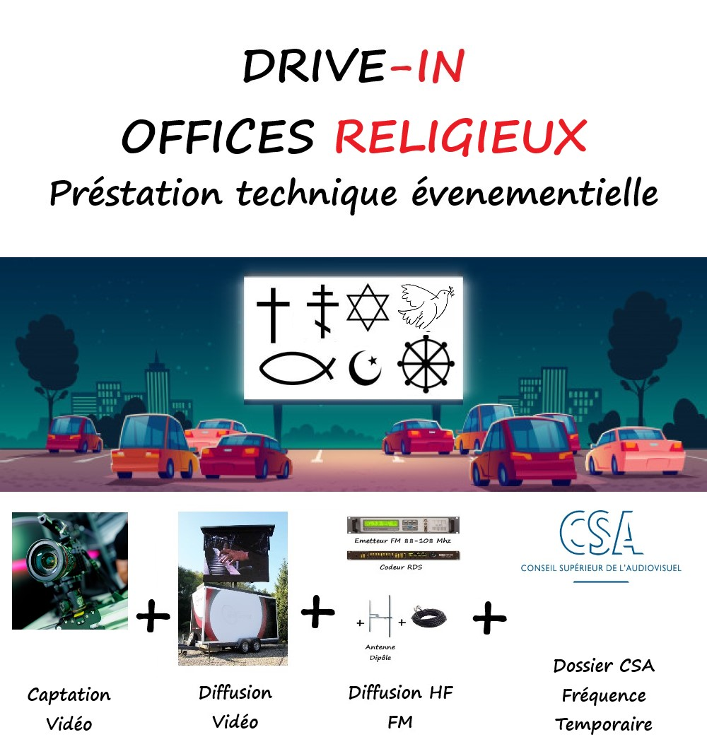 DRIVE IN Offices Religieux