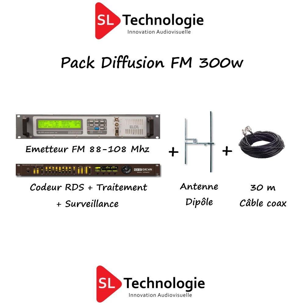 Pack Diffusion FM Émetteur 300w