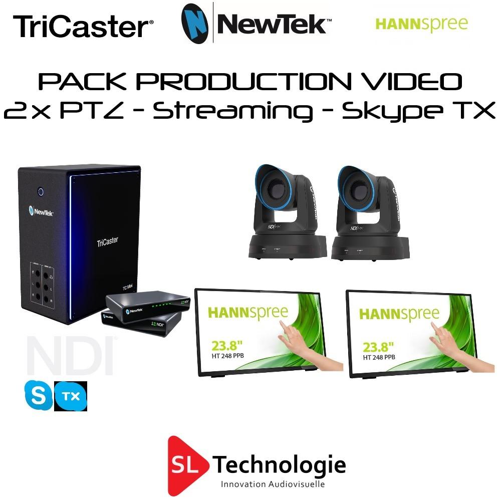 Pack TC Mini 4K + 2x PTZ-2 NewTek