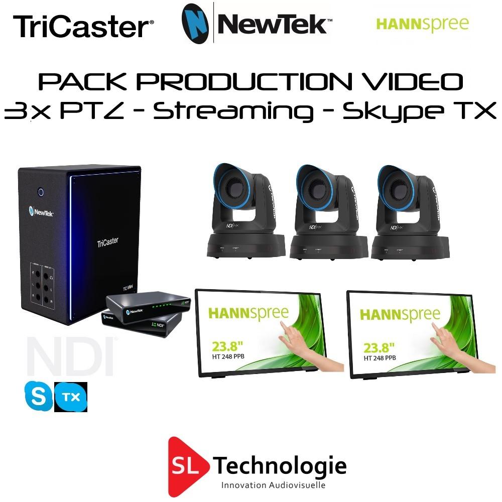Pack TC Mini 4K + 3x PTZ-2 NewTek