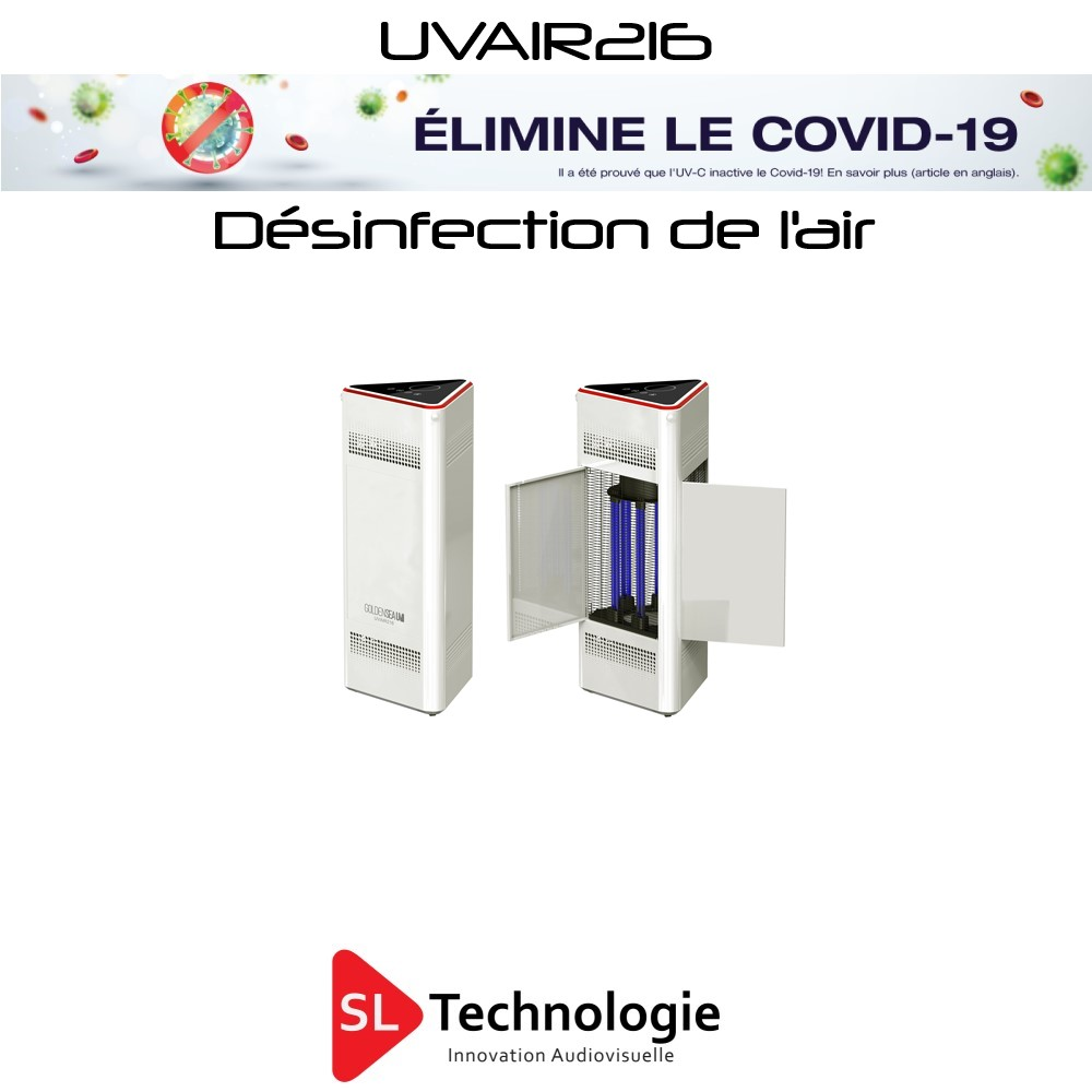 UVAIR216 Désinfection de l'air par UV-C